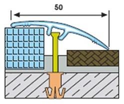 GP50 преходен профил със скрит монтаж 50 мм