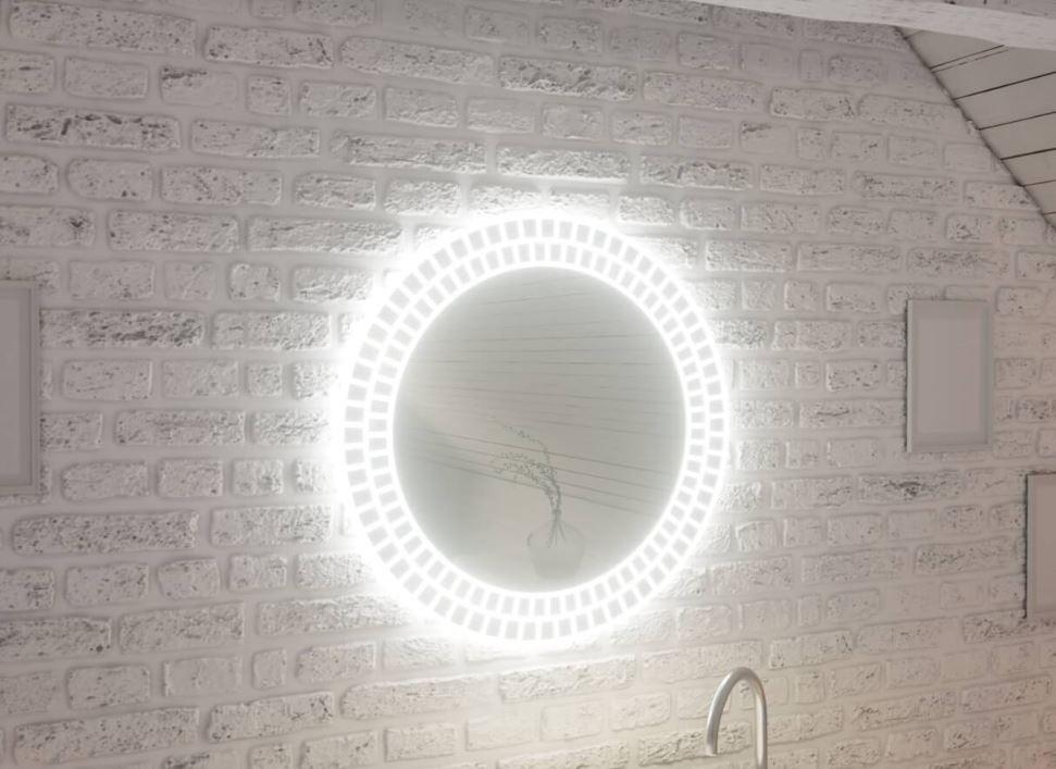 Огледало CARMEN 70 с LED осветление с нагревател и тъч