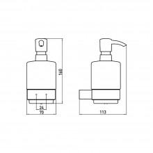 Окачен дозатор за течен сапун LOFT - черен мат