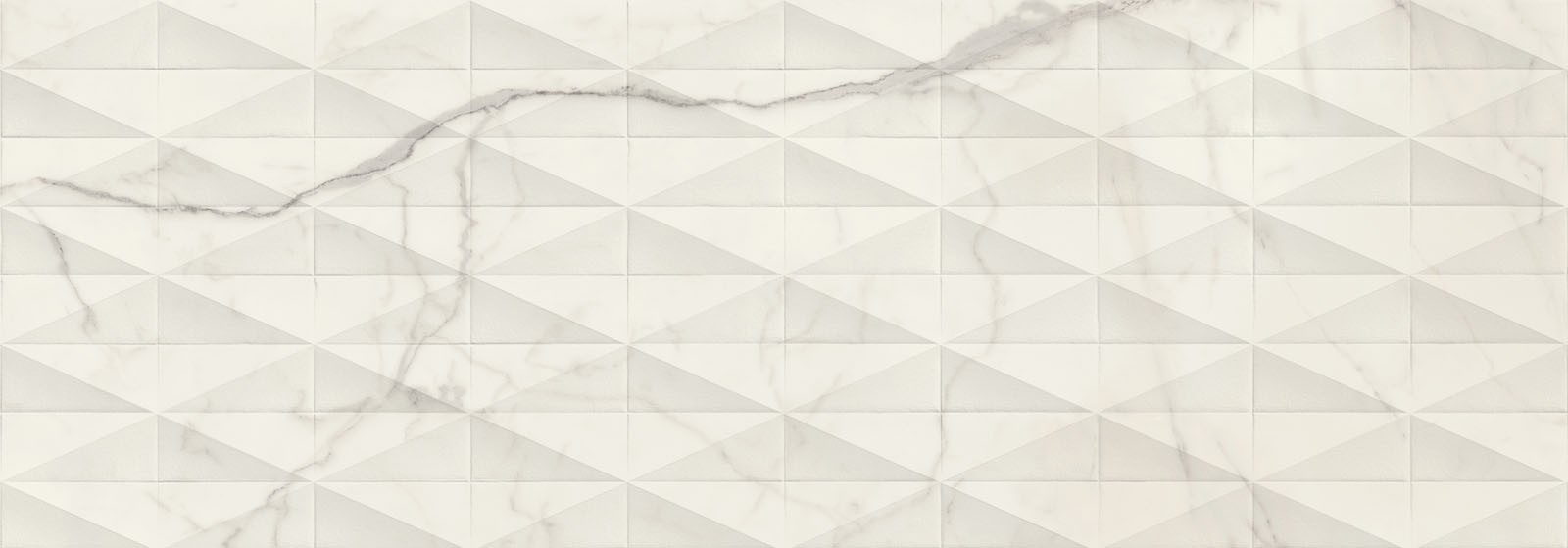 Стенни плочки Allmarble Wall Statuario Struttura Pave 3D Satin 40x120
