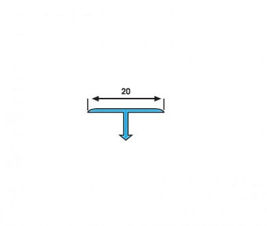 SB 20 T-образен преходен профил 20х9 мм