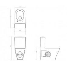 Моноблок URBAN HARMONY с капак плавно затваряне и бутон Easy-Off
