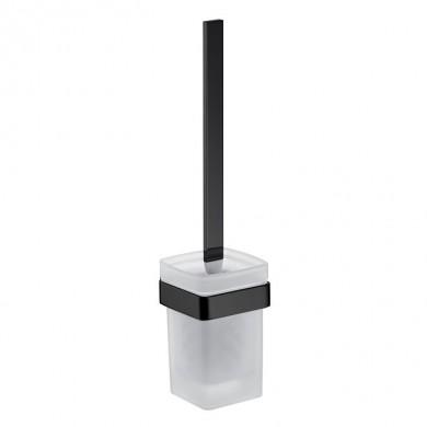 Черни аксесоари за баня: окачена четка за тоалетна чиния LOFT - черен мат