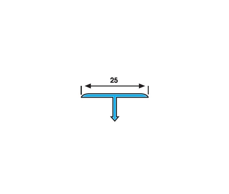 SB 25 Т-образен преходен профил 25х9 мм