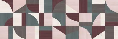 Декор Carioca Cream/Taupe/Sage/Purple/Rose 40x120
