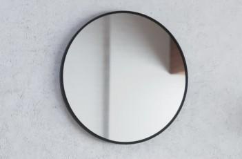 Огледало RONDA 70 с черна метална рамка и нагревател