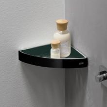Черни аксесоари за баня: ъглова поставка LOFT - черен мат