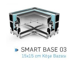 SMART BASE 03 ЪГЛОВА КОНЗОЛА 15Х15 см