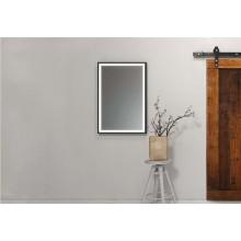 Огледало ASTON 80x100 с черна метална рамка, LED осветление