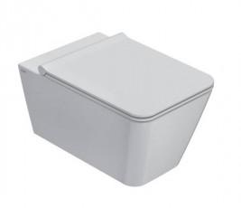 Окачена тоалетна чиния INCANTHO БЕЗ РЪБОВЕ с капак плавно затваряне
