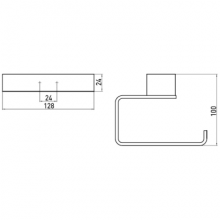 Черни аксесоари за баня: Комплект аксесоари за баня LOFT - черен мат