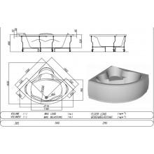 Вана хидромасажна ъглова LOCO 150x150