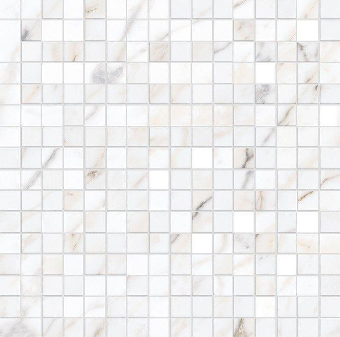 Декор Allmarble Wall Golden White Mosaico Lux 40x40