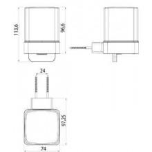 Окачен дозатор за течен сапун с долно откапване LOFT - черен мат
