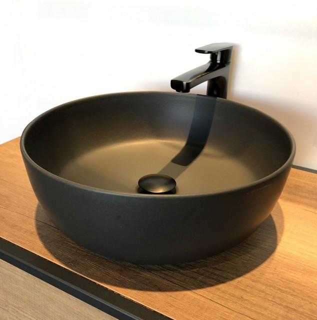 Мивка GLAM в цвят Lava кръгла Ф39