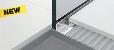 PSHWPGACS профил за душ кабини с вграден наклон и монтаж на стъкло