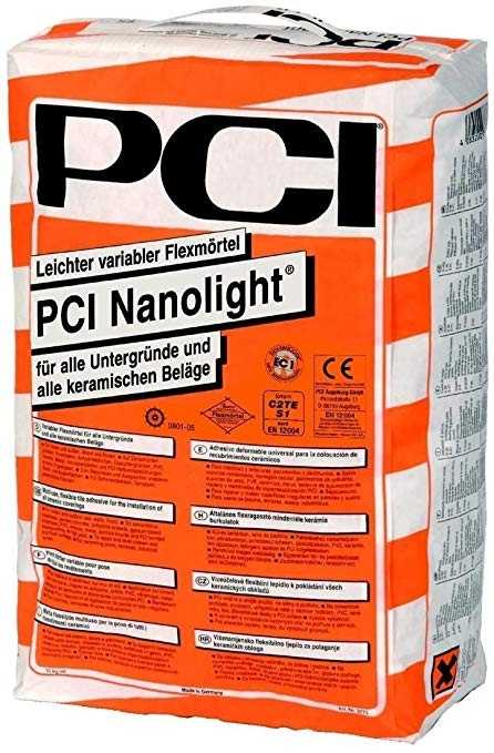 Циментово лепило PCI Nanolight ®, клас C2 TE S1