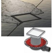 Точков подов сифон за баня с приставка за вграждане на плочка ТЕСЕ