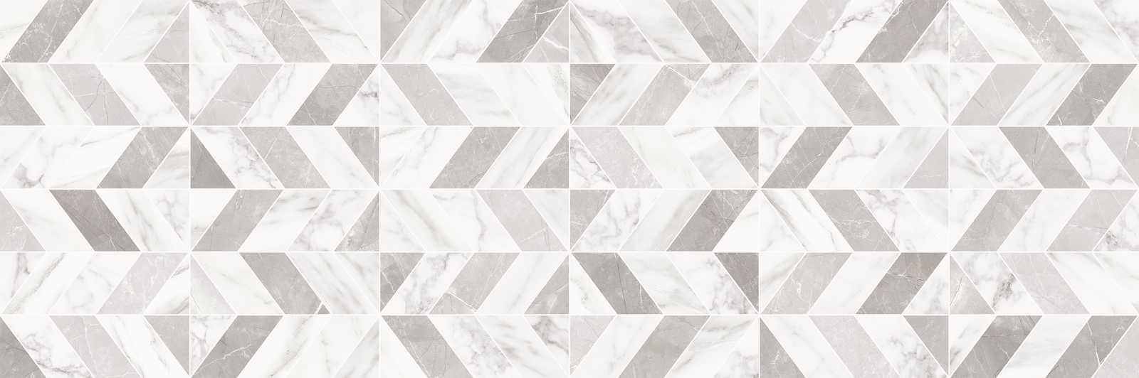 Декор Marbleplay Decoro Naos White/Statuarietto 30x90
