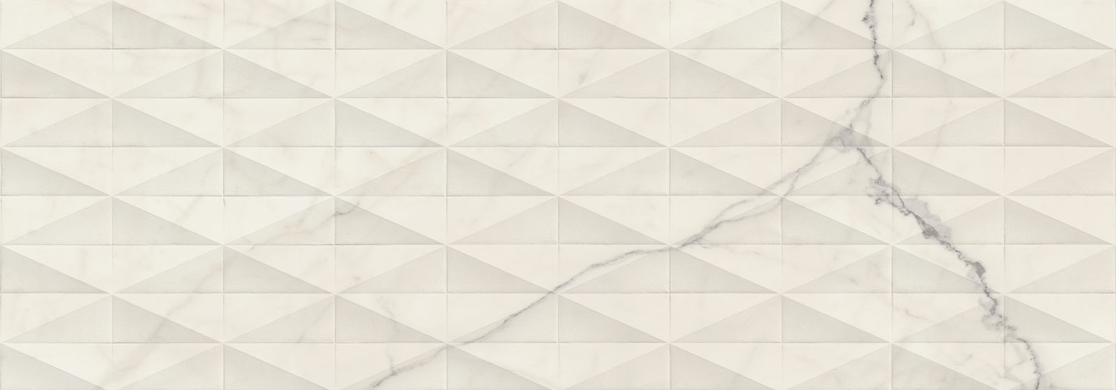 Стенни плочки Allmarble Wall Statuario Struttura Pave 3D Lux 40x120