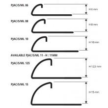 PJAC 08, ъглов завършващ профил от полирана стомана