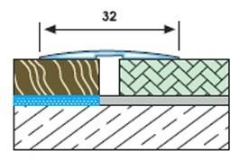 GP 32 плосък преходен профил 32 мм