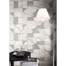Декор Allmarble Wall Golden White Satin Decoro Club 40x120