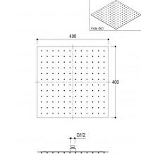 Квадратна душ пита тънка 40х40 - Ritmonio