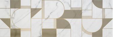 Декор Allmarble Wall Golden White Decoro Club Satin 40x120