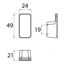 Аксесоари за баня хром: единична закачалка ART - хром