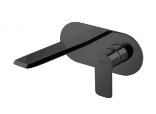 Стенен смесител за мивка Slate черен мат - Vema
