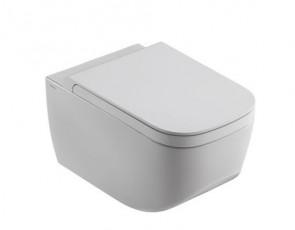 Окачена тоалетна чиния NEXT БЕЗ РЪБОВЕ с капак плавно затваряне TAKE-OFF