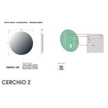 Огледало CERCHIO Z Ф70 с LED осветление с тъч и нагревател