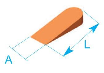 PCU 5  Клинчета за плочки 0-5мм