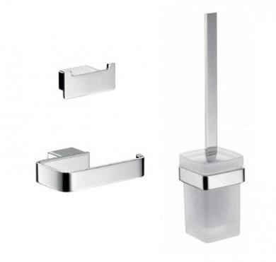 Аксесоари за баня хром: комплект аксесоари за баня LOFT - хром