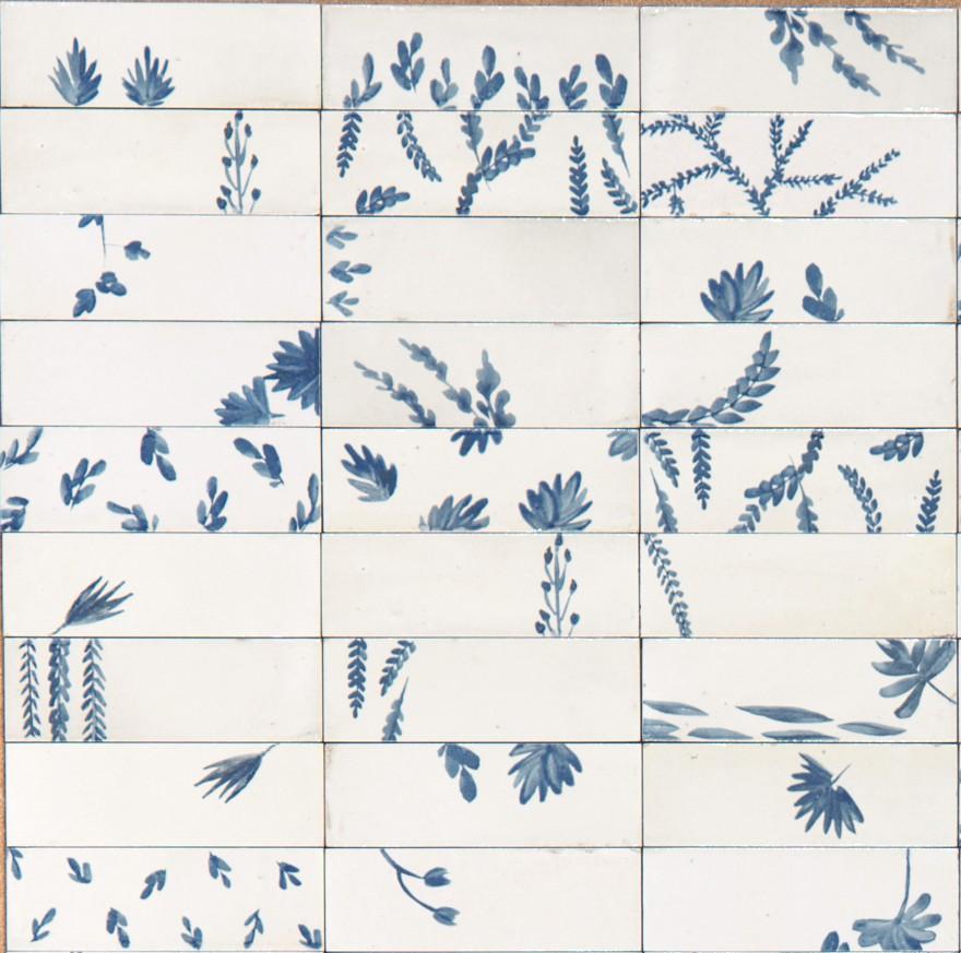 Гранитогрес  Decoro Rice Leaf Bianco Lux 5x15