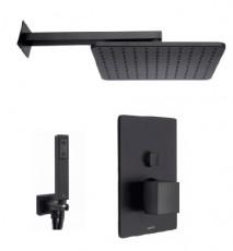 Душ система за вграждане Project Line Square черен мат - Bossini