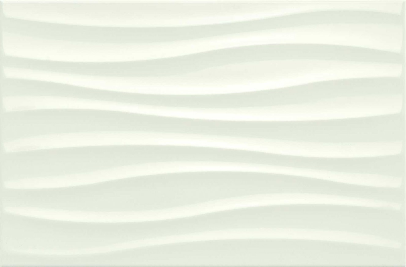 Стенни плочки Chroma White Struttura Tide 3D 25x38