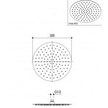 Овална душ пита тънка Ø30 - Ritmonio