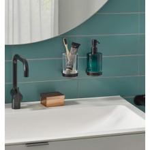 Черни аксесоари за баня: окачен дозатор за течен сапун ROUND - черен мат
