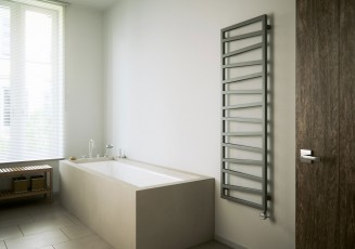Лира за баня с нагревател ZIGZAG - цвят Metallic Black