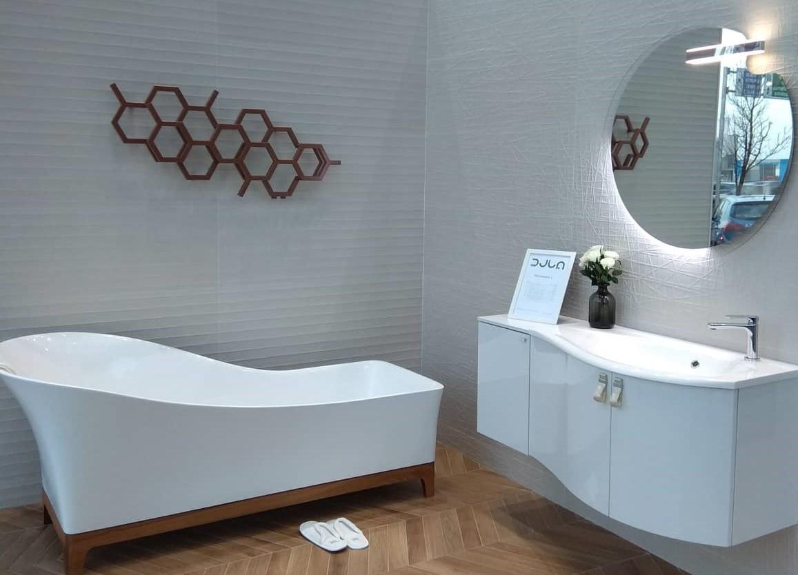 Лира за баня HEX с термоглава - цвят Cooper