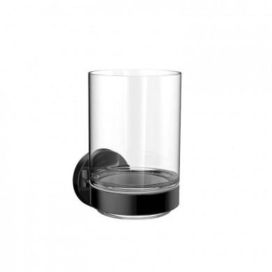 Черни аксесоари за баня: окачена чашка ROUND - черен мат