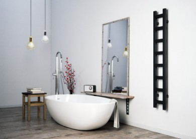 Лира за баня с нагревател EASY - цвят RAL9005 MAT
