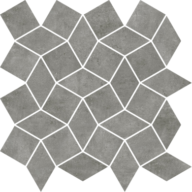 Гранитогресна мозайка Industrial Color chic Smoke diamond 30x30