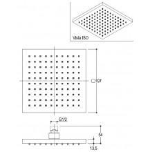 Черна Душ система за вграждане Glitter, черен мат - Ritmonio