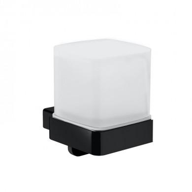 Черни аксесоари за баня: окачен дозатор за течен сапун с долно откапване LOFT - черен мат