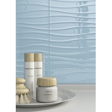 Стенни плочки Chroma Light Blue Struttura Tide 3D 25x38