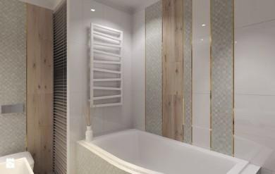 Лира за баня ZIGZAG с терморегулатор ONE - цвят White Wall