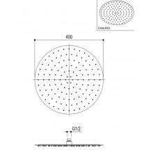Овална душ пита тънка Ø40 - Ritmonio